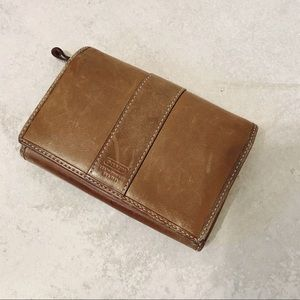Coach • brown leather wallet